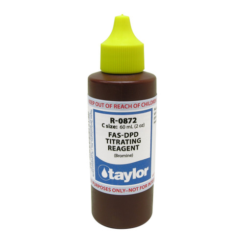 Taylor FAS-DPD Titrating Reagent (Bromine) - 2 Oz. (60 mL) Dropper Bottle (R-0872-C)