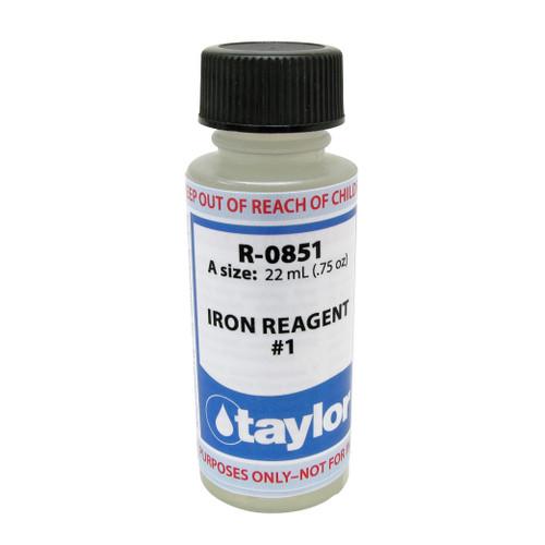 Taylor Iron #1 Reagent - 3/4 Oz. Bottle (R-0851-A)