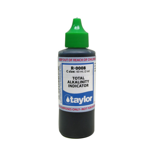 Taylor Total Alkalinity #8 Reagent - 2 Oz. (60 mL) Dropper Bottle (R-0008-C)