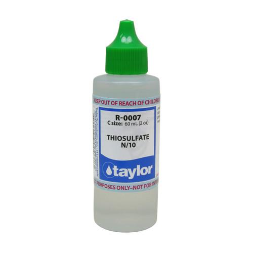 Taylor Thiosulfate #7 Reagent N/10 - 2 Oz. (60 mL) Dropper Bottle (R-0007-C)