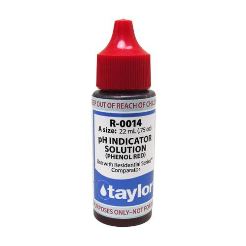 Taylor pH Indicator Solution #14 Reagent - 3/4 Oz. Dropper Bottle (R-0014-A)