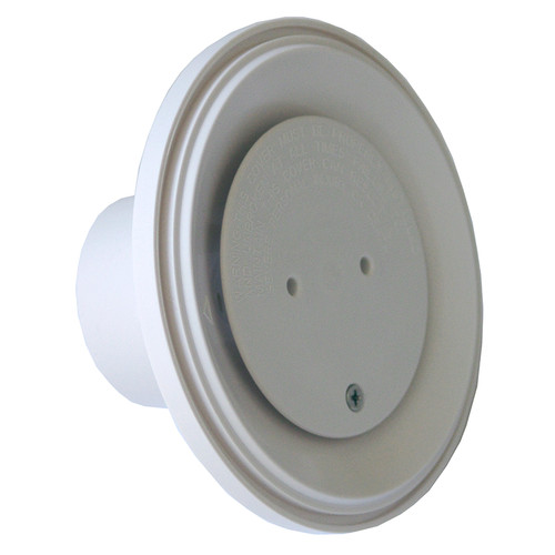 "Aquastar 4"" Adjustable Floor Return Fitting, White, 4DIV101 (API-25-1106)"