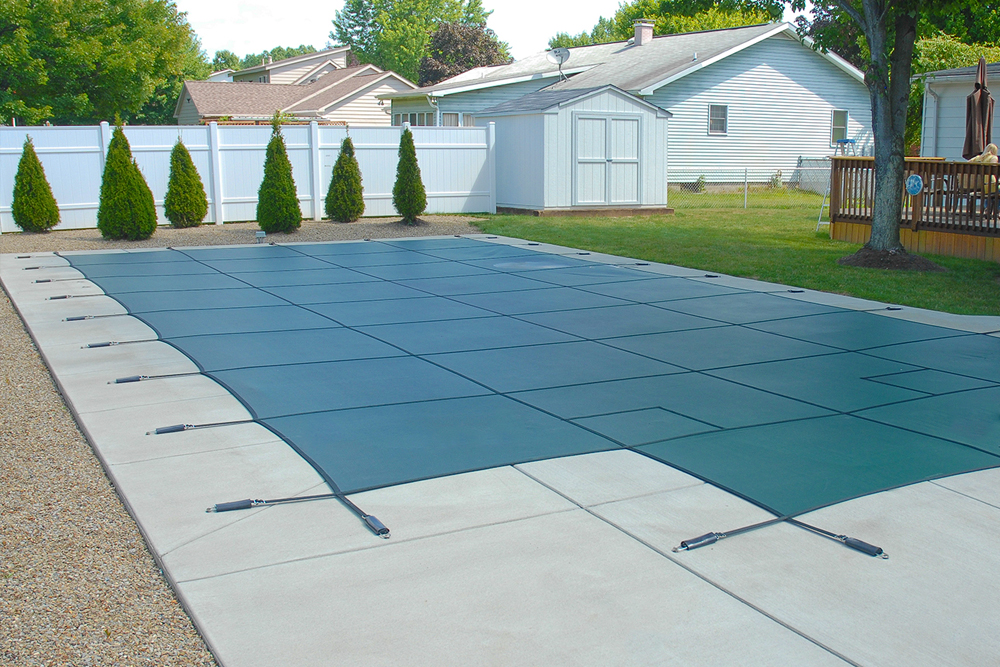 Green Secur-A-Pool Safety Cover