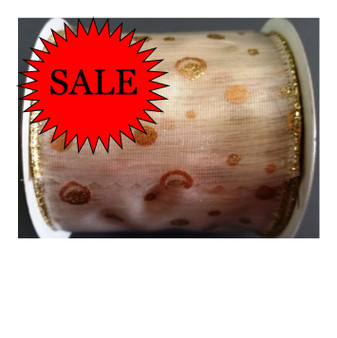 Yuletide Cream Ribbon 63mm