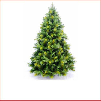 "Oxford Spruce Christmas Tree 2.59m This realistic artificial Christmas tree which looks and feels like a real tree with tips so varied in size it will appear you have somehow removed a Spruce from the forest.    Place twinkling lights into the Oxford and your tree is complete even if you do not use any other decorations.    The branches have 4"" cone shaped tips with a narrow lighter colour tip on the ends and 2½"" softer cone shaped tips mixed into the tree.     Available in 3 sizes.   Branches reach off the floor.    Colour: Dark Green"