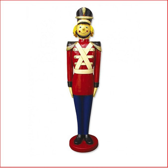 Toy Soldier 5ft is the favourite soldier of the lot, kids adore his friendly smile, is great for Santa set ups in shopping centres and Christmas displays