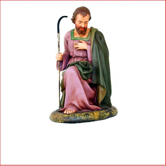 The Poly-resin Saint Joseph to complete your nativity scene. Also available is Mary, Nativity Angel and Baby Jesus that are sold separately to complete your Christmas Nativity Scene.