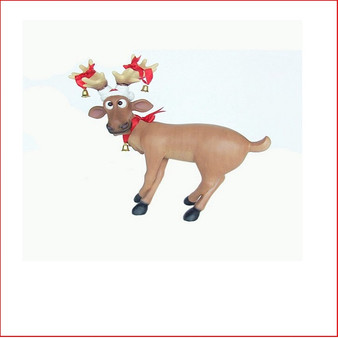 Funny Reindeer Standing Cross Legs, great table decoration or a little reindeer for your Christmas display