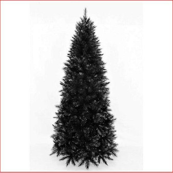 Slim Vienna Spruce 2.13m Black Christmas Tree
