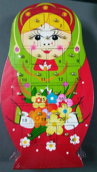 Babushka Advent Calendar - Red