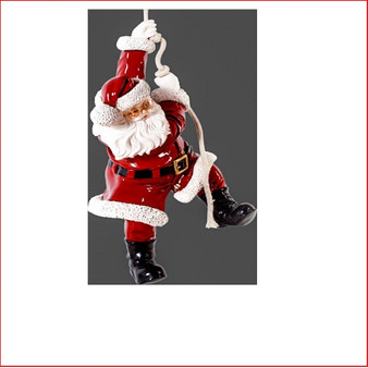 The Poly-resin Hanging Santa 3ft is great for a hanging decoration from the ceiling in shopping centres, foyers or your Christmas display