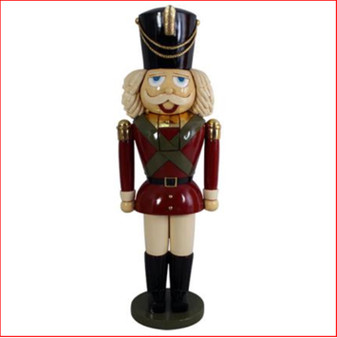The Polyresin Nutcracker 6ft is a classic take on the nutcracker with a warm and friendly demeanor. He is great for Santa set ups in shopping centres, your front door and your Christmas displays. Be comforted with this genuinely beautiful nutcracker who looks great as a pair or next to your Santa throne.