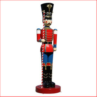 The Polyresin Toy Soldier with Baton 16ft, large christmas decor, huge nutcracker, large christmas display