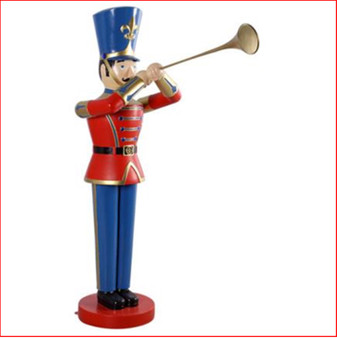 The Polyresin Toy Soldier with Trumpet 6ft will cast you back to your childhood of carefree days and vivid imagination. Such a cute piece representing Christmas parades across the globe. You will love this for Christmas and it comes in a 4ft and a 9ft version as well. The perfect addition to enhance your Christmas display, Toy soldiers and Nutcrackers are collectibles where you can never have enough.