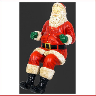 The Poly-resin Santa for Sleigh Jumbo, a beautiful centre piece in your Christmas display, large christmas decor at its best, also available is a sitting Sleigh Jumbo, Reindeers to pull the sleigh, The Santa for Sleigh Jumbo is used in shopping centres and at many events where Santa can't attend and the sitting Santa can take its place.