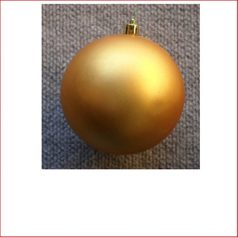100mm Christmas Bauble - Gold - Wired Matte