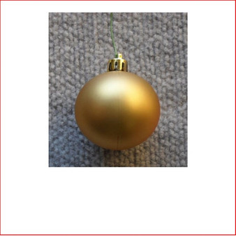 50mm Christmas Bauble - Gold - Wired Matte