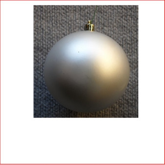 70mm Christmas Bauble - Silver - Wired Matte