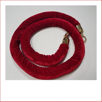 Image of Red Velvet Rope with Gold Ends