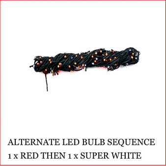 The 160 LED Lights Red and Super White Colour christmas lights are a great size to decorate a small christmas tree or other christmas display pieces like wreaths, garlands, wall trees, topiary balls. The LED Lights are alternate, 1 x red led then 1 x white led. Decorating with christmas Led fairy lights is endless as the led lights can be used Indoor/Outdoor and you can create to your imagination. Led Lights can be used on your gutter, roof or your Jacaranda Tree in the front yard. The beauty of the LED Lights is that they are energy efficient and very little power is used and you can enjoy a joyful Merry Christmas at low energy cost. Led Lights are also used at bday parties and all special celebrating events.