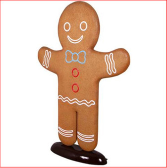 The Polyresin Christmas Gingerbread Man 6.5ft is a classic piece that will enhance your Christmas spirit. The gingerbread man can be teamed with the Christmas Gingerbread Woman to create the perfect gingerbread couple. Beautifully designed to bring fun and smiles to the Christmas season, beware the children may decide to take a bite.
