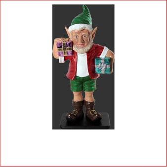The design Poly-resin Christmas Elf with two gifts 3ft is playful, fun, adorable and beautifully crafted. Whether it be in the garden or even the kids bedroom this little Aussie elf will bring joy to your Christmas.