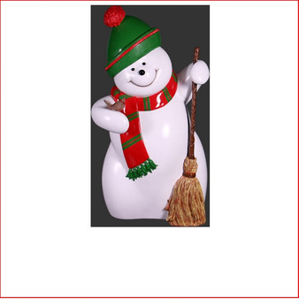 The Poly-resin Snowman Red-Green-White 5ft is a modern contemporary style snowman in a fun design. Team the Snowman Red-Green-White 5ft with some candy canes and a Funny Reindeer for a fun and interactive start to your Christmas winter wonderland.