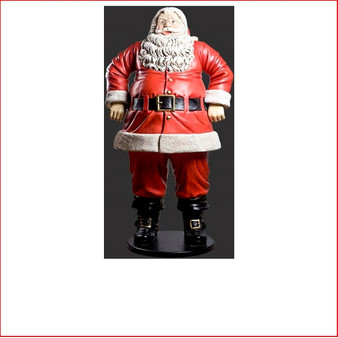 Front View Polyresin Jolly Santa 6ft is a beautifully imposing piece that will be the eye catching centre of you Christmas display. Expertly detailed in every way this Santa will draw the attention of all who come to see him.