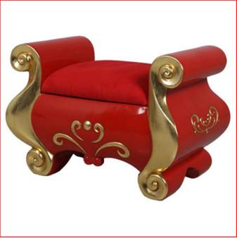 Santa's red Footstool