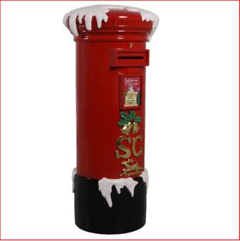 Santa Mailbox with snow
