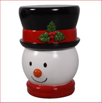 Snowman Stool