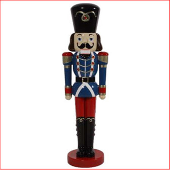 Cute 4ft Nutcracker Soldier. Perfect for small spaces.