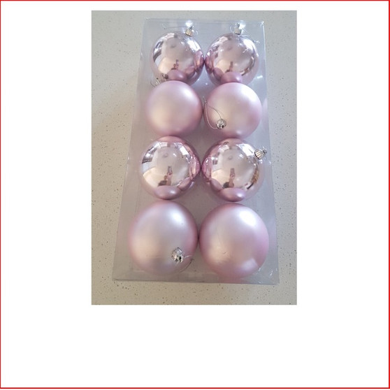 80mm Baubles Pink