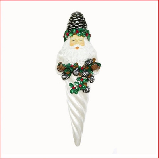The Poly-resin Santa Ice Cone Hanging Ornament 1.3 metre, is great for a hanging decoration from the ceiling in shopping centres, foyer or your Christmas display