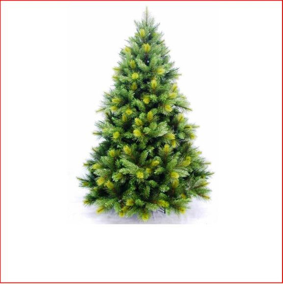 "Oxford Spruce Christmas Tree 2.28m This realistic artificial Christmas tree which looks and feels like a real tree with tips so varied in size it will appear you have somehow removed a Spruce from the forest.    Place twinkling lights into the Oxford and your tree is complete even if you do not use any other decorations.    The branches have 4"" cone shaped tips with a narrow lighter colour tip on the ends and 2½"" softer cone shaped tips mixed into the tree.    Available in 3 sizes.      Branches reach off the floor.     Colour: Dark Green"