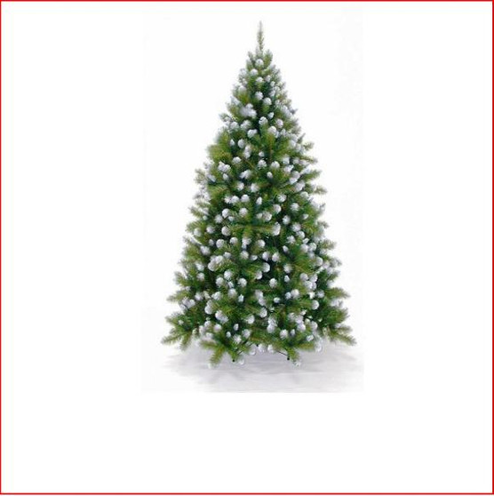 """Grand Empress Spruce 1.98m Want your tree to really stand out?  This tree is made with a mixture of 2 styles of tips and 2 palettes of green (2½"""" mature dark green tips and 1½"""" new growth green tips). For that real snowy mountain feel, we have created a lush tree with frosted white tips.   Branches reach close to the floor."""