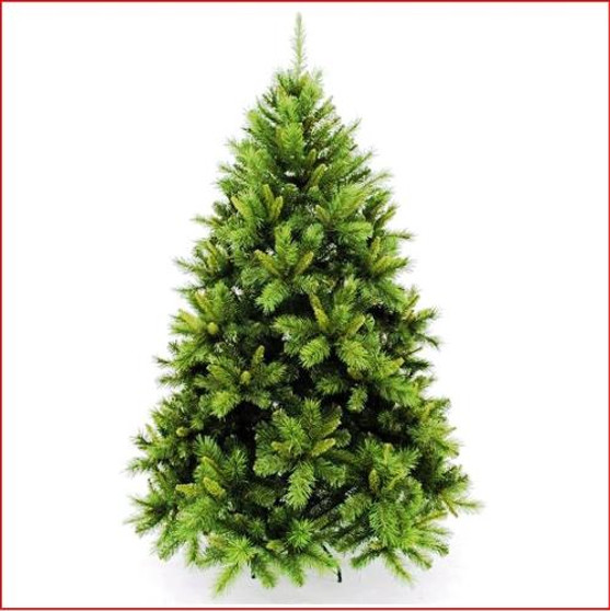 """New Hampshire Pine 1.98m We have created a realistic Christmas tree to match our ever popular Wreaths, Garlands and Centrepieces of the same name.  This tree is made with a mixture of 2 styles of tips and  2 palettes of green 2½"""" mature dark green tips and 1½"""" new growth green tips.  This tree is now available in 2.28m (7½ft) Blue Frosted white Branches are off the floor."""