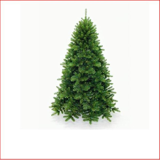 Scandia Spruce 2.13m Hinged Dark Green Christmas Tree