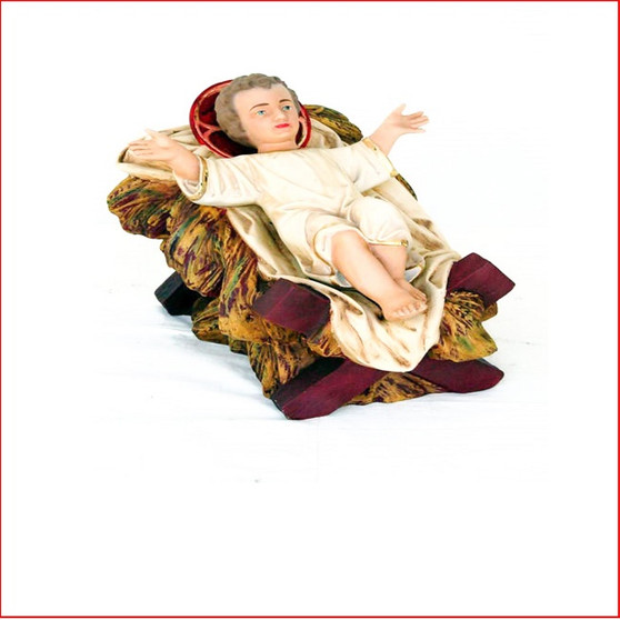 The Poly-resin Nativity Baby Jesus is the centrepiece of any nativity display. Also available is Mary, Nativity Angel and Joseph that are sold separately to complete your Christmas Nativity Scene.