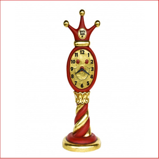 Santa Clock, you will be able to set the time when Santa will arrive back