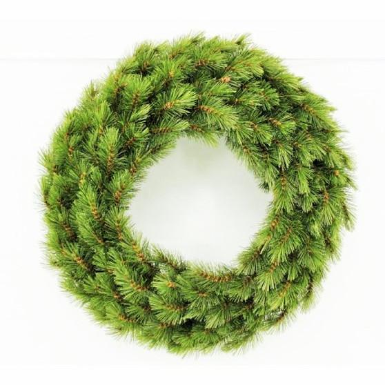 Geneva Pine Wreath 61cm Dark Green