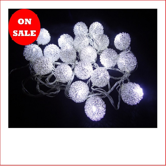 32 LED Wire Ratten Balls White