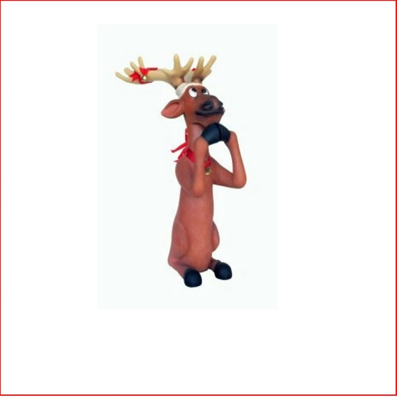 Funny Reindeer Begging 5ft, comical reindeer looks great in a large display with Santa