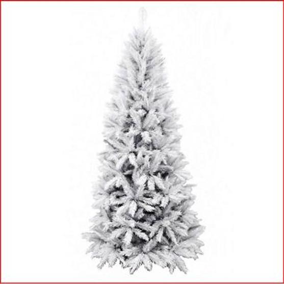 Slim Vienna Spruce 2.13m White Christmas Tree