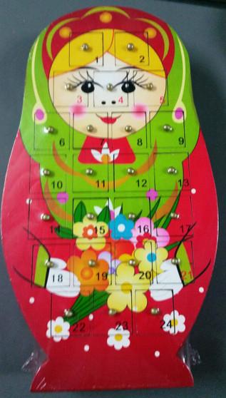 Babushka Advent Calendar - Red