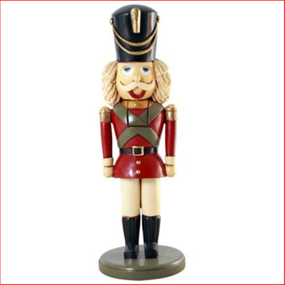 The Polyresin Nutcracker 80cm is a classic take on the nutcracker with a warm and friendly demeanor.  A beautiful table top decoration or great for a small size Christmas display