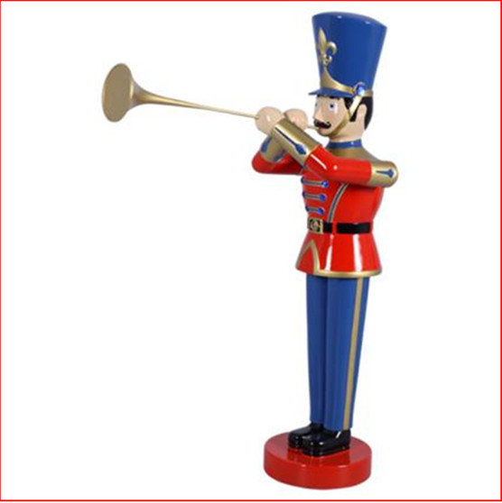 The Polyresin Toy Soldier with Trumpet 4ft will cast you back to your childhood of carefree days and vivid imagination. Such a cute piece representing Christmas parades across the globe. You will love this for Christmas and it comes in a 6ft  and a 9ft version as well. The perfect addition to enhance your Christmas display, Toy soldiers and Nutcrackers are collectibles where you can never have enough.