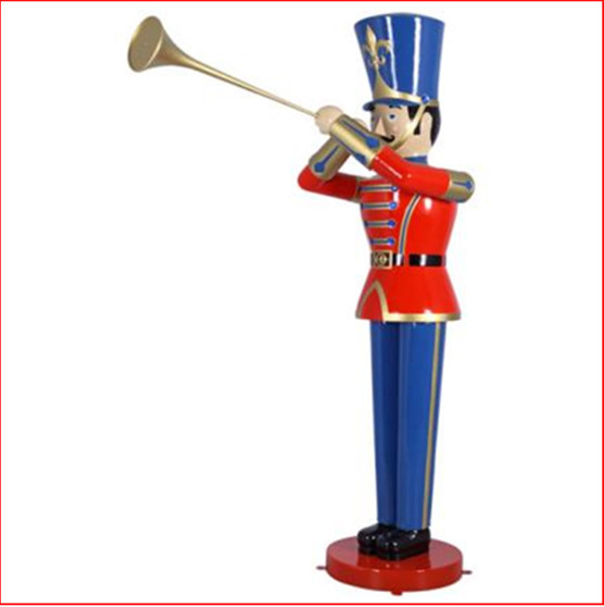 The Polyresin Toy Soldier with Trumpet 9ft will cast you back to your childhood of carefree days and vivid imagination. Such a cute piece representing Christmas parades across the globe. You will love this for Christmas and it comes in a 4ft and a 6ft version as well. The perfect addition to enhance your Christmas display, Toy soldiers and Nutcrackers are collectibles where you can never have enough.