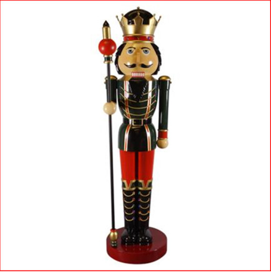 The Polyresin Nutcracker 12ft with Sceptre Right Hand statue is an imposing impressive piece. He looks great in your Christmas display with Christmas Trees, Santa Throne, Candy Cane or by himself creates a one man display. The Nutcracker 12ft with Sceptre Right Hand is seen in many shopping centres and corporate window Christmas display due to his impressive appearance.