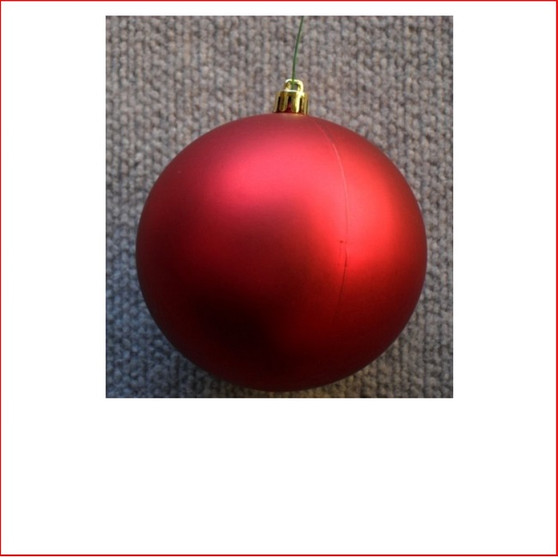 100mm Christmas Bauble - Red - Wired Matte